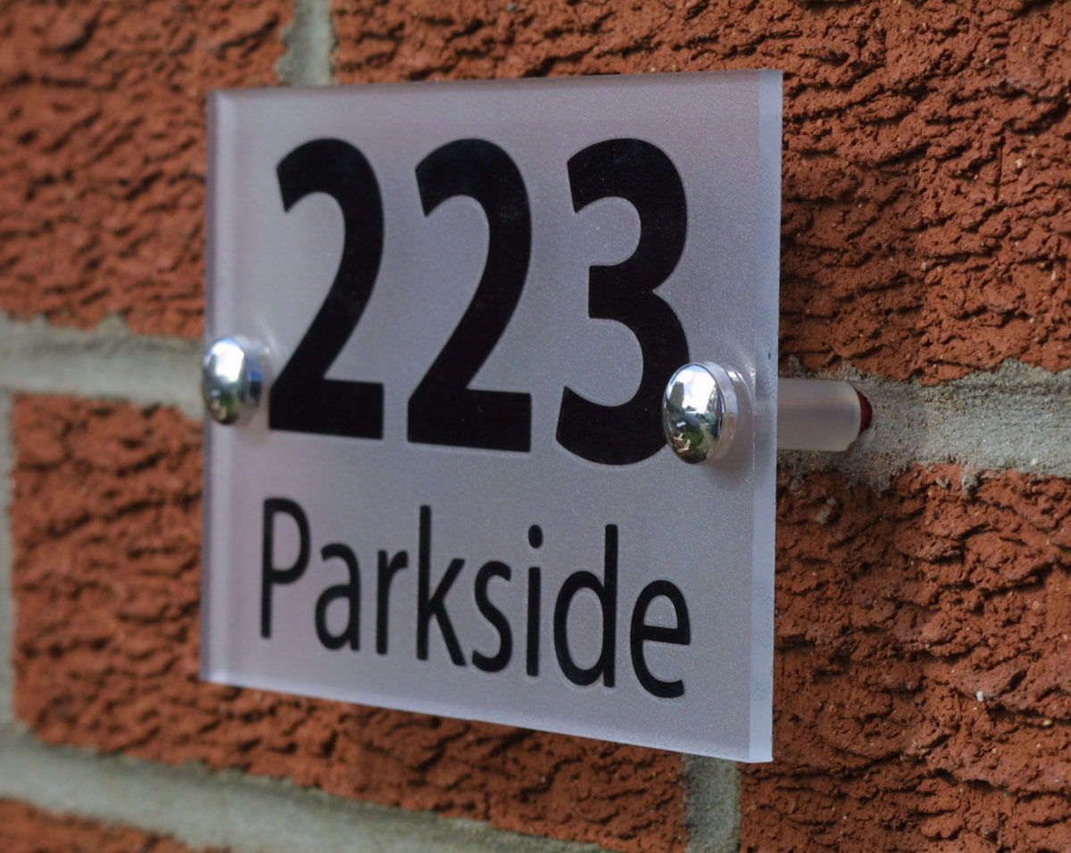 Modern House Number Signs House And Home Design