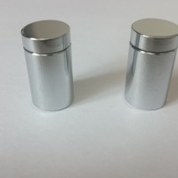 CHROME PLATED ALUMINUM SIGN FITTING BOLTS - 13mm dia x 19mm