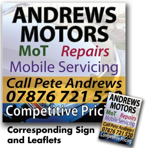 Andrews Motors Sign
