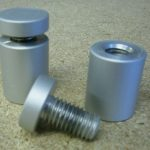 Satin Anodised Aluminium Stand Off Fitting