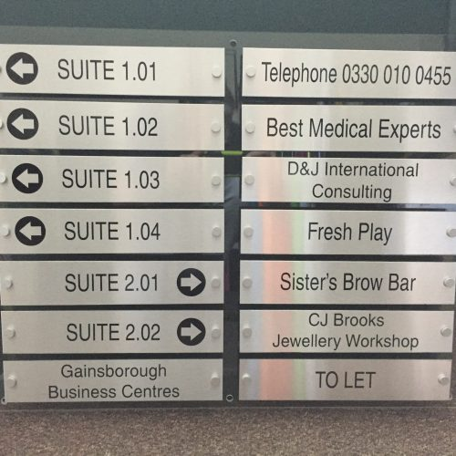 OFFICE DIRECTORY LISTING SIGN