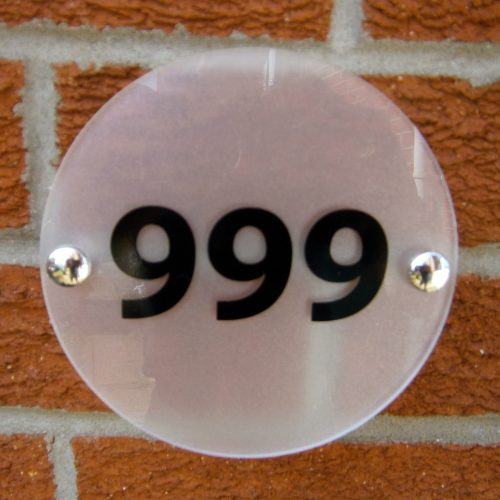CONTEMPORARY - ROUND - HOUSE NUMBER SIGN/PLAQUE