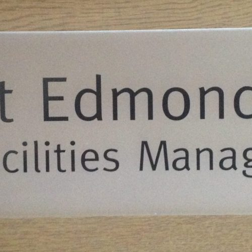 300 x 100mm Office Door Signs Contemporary Frosted Acrylic