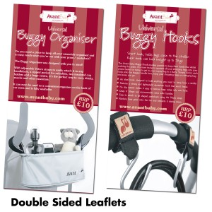 Double sided leaflets